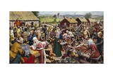 Saxon Village Fair Giclee Print by Mike White