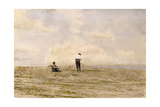 Mending the Net, 1882 Giclee Print by Thomas Cowperthwait Eakins