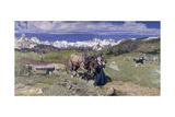Giovanni Segantini - Springtime in the Alps, 1897 Digitálně vytištěná reprodukce