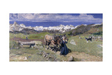 Springtime in the Alps, 1897 Giclee Print by Giovanni Segantini