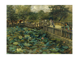 Lotus Pond, Shiba, Tokyo, 1886 Giclee Print by Theodore Wores