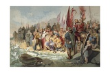 Canute Commanding the Waves Giclee Print by Maynard Brown