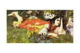 At the Running Brook Giclee Print by Frederick Arthur Bridgman