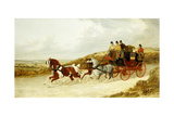 The Edinburgh and London Royal Mail, 1838 Giclee Print by John Frederick Herring I