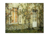 The House of Roses; Les Maison Aux Roses, 1936 Giclee Print by Henri Eugene Augustin Le Sidaner