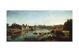 View of Tiber Giclee Print by Gaspar van Wittel