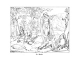 The Two Brothers, Engraved by J. Dielmann Giclee Print by Alfred Rethel