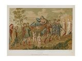 Psyche Carried Aloft on a Stretcher Giclee Print