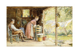 Wash Day, 1890 Giclee Print by Edward Lamson Henry