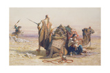 Danger in the Desert, 1867 Giclee Print by Carl Haag