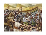 Spaniards Toppling the Inca Empire of Peru Giclee Print by Mike White