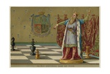 The King Defended by a Pawn Giclee Print
