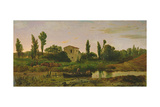 Landscape with Boat, 1867 Giclee Print by Modesto Urgell y Inglada