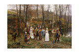 A Wedding Procession, 1879 Giclee Print by Marie Francois Firmin-Girard