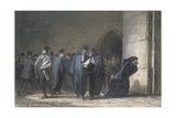At the Palace of Justice, C.1862-65 Reproduction procédé giclée par Honore Daumier
