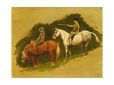 Study for Cloutsham Farm, Exmoor Giclee Print by Cecil Charles Windsor Aldin