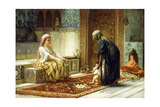 The First Steps, 1878 Giclee Print by Frederick Arthur Bridgman