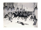 Battle of Washita, 1887-88 Giclee Print by Frederic Remington