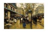 La Place De L'Opera, Paris Giclee Print by Ulpiano Checa Y Sanz