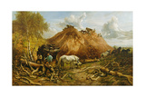 Clearing the Wood for the Iron Way, 1880 Giclee Print by Thomas Sidney Cooper