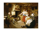 A Family in an Interior Giclee Print by John Faed