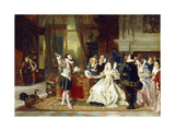 Sir Walter Raleigh and Queen Elizabeth, 1875 Giclee Print by Charles Edouard Boutibonne