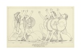 Seven Chiefs Against Thebes Giclee Print by John Flaxman