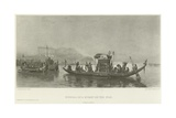 Funeral of a Mummy on the Nile Giclee Print by Frederick Arthur Bridgman