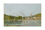 The Seine at Caudebec-En-Caux, 1889 Giclee Print by Eugène Boudin