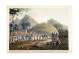 Assemblage of Ghoorkas, 1820 Giclee Print by James Baillie Fraser