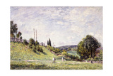 The Slope by the Railway in Sevres, 1879 Giclee Print by Alfred Sisley