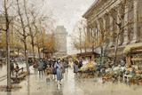 Paris Street in Autumn Giclee Print by Eugene Galien-Laloue