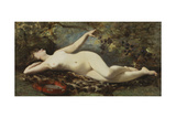 Reclining Nude with Tambourine Giclee Print by Etienne Leroy