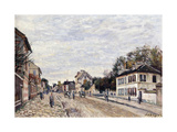 Street Scene at Marly, 1876 Giclee Print by Alfred Sisley