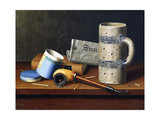 Still-Life with Blue Tobacco Box, 1878 Giclee Print by William Michael Harnett