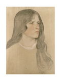 Portrait of a Girl, 1904 Giclee Print by William Strang