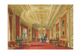 The Crimson Drawing Room, Windsor Castle, 1838 Giclee Print by James Baker Pyne
