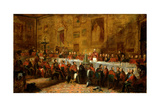 The Waterloo Banquet, 1836 Giclee Print by John William Salter