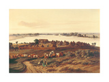 Village in Senegal Giclee Print by Edouard Auguste Nousveaux