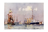 "The ""Speedy"" Leaving Portsmouth Giclee Print by Charles Edward Dixon"