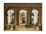 The Entrance to the Biblioteca Marciana, Venice Giclee Print by Giuseppe Bernardino Bison