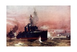 "The ""Fame"" in the Attack on Taku Giclee Print by Charles Edward Dixon"