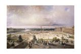 Place De La Concorde, Paris, 1853 Giclee Print by Carlo Bossoli