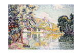 The Andelys, Gaillard Chateau, 1921 Giclee Print by Paul Signac