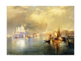 Moonlight in Venice Giclee Print by Thomas Moran