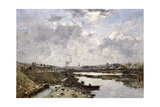 Fecamp, L'Arriere-Port En Construction, 1883 Giclee Print by Eugène Boudin