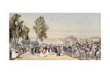 Hyde Park: Near Grosvenor Gate, 1842 Giclee Print by Thomas Shotter Boys
