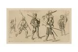 Men at Arms, Start of the 16th Century Giclee-trykk av Raphael Jacquemin