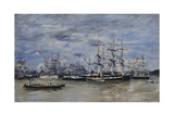 The Port of Bordeaux, 1874 Giclee Print by Eugene Louis Boudin
