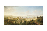 A Panoramic View of Messina, Sicily Giclée-Druck von Gaspar van Wittel